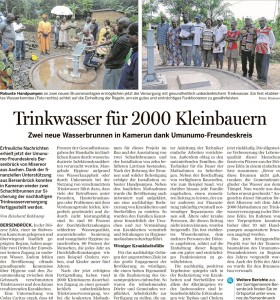 Wasserbrunnen in Kamerun fertiggestellt