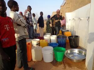 Wasserentnahmestelle von St. John in Jamutu/Yola